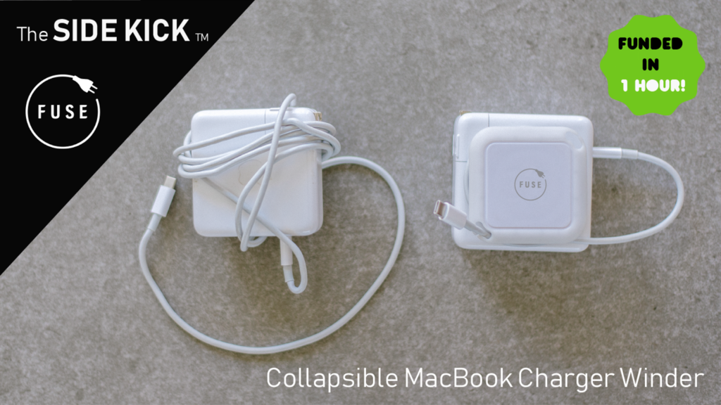 Side Kick by Fuse - Collapsible MacBook Charger Winder